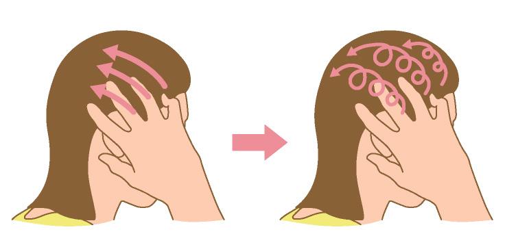 側頭部のマッサージ