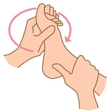 足指の準備運動